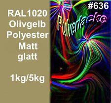 PULVERLACK Beschichtungspulver Pulverbeschichtung RAL1020 Olivgelb Lackierpulver