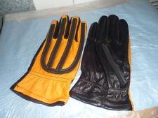 NOS Black Yellow Size Large Vintage Motorcycle Gloves Chopper Bobber Cafe Racer