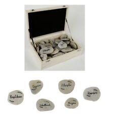 Kräutersteine Naturkieselsteine individuell beschriftet Basilikum, Schnittlauch