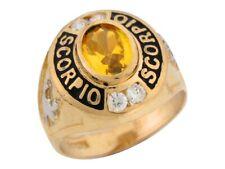 10k or 14k Gold Yellow CZ Simulated November Birthstone Scorpio Zodiac Ring