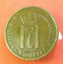 NORWAY -HAAKON  VII - BRONZE 2 ORE 1929 KM #  371 - FINE+