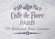 Cafe Flore STENCIL 3 sizes CDF Vintage Chic French Furniture, SUPERIOR 250 MYLAR
