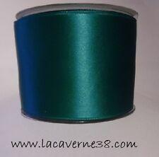 1/5 m Ruban satin Luxe double face large 70 mm vert printemps couture décoration