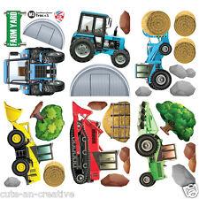 Tractors Diggers Wall Art Vinyl Stickers Farm Diggers Vehicle Truck Trac6L