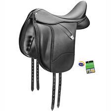 "Bates Dressage+ Adjustable Performance Support Saddle with CAIR Black 16""-18"""