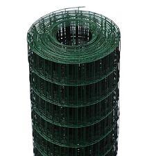RETE ZINCATA PLASTIFICATA VERDE PER RECINZIONE 25 METRI MAGLIA 100X50 MM