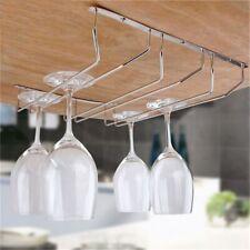 Display Under Cabinet Stemware Wine Glass Holder Goblet Rack Hanging Shelf