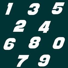9 cm Zahlen Aufkleber Klebezahlen Ziffern Sticker 1 bis 200 Stück weiß SA-38