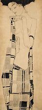 Egon Schiele-De Pie Chica Vintage Fine Art Print