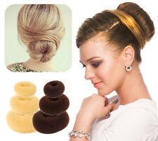 Women's DIY Bun Maker Tool Foam Donut Sponge Ballet Hair Styling Updo Accessory