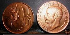 10 Centesimi ape 1926  FDC  rosso  sig./periz.to