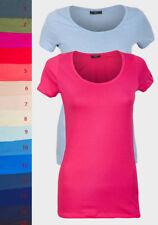 T-Shirt Shirt Damen Top verschiedenen Farben Basic Shirt  Gr. S-XL  NEU