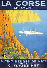 Affiche chemin de fer PLM - La Corse 3