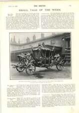 1902 Kings State Coach Rev Fg Pelham Earl Of Chichester Col Cunningham