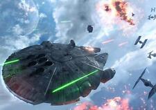 STAR WARS MILLENNIUM FALCON POSTER Force Awakens Rogue One Last Jedi A3 A4