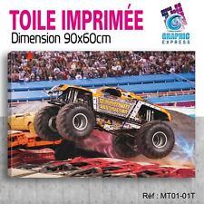90x60cm - TOILE IMPRIMÉE TABLEAU- MONSTER TRUCK JAM - 4x4 BIGFOOT - MT01-1T