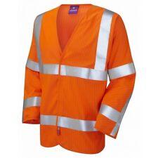 Leo Workwear Meshaw Class 3 LFS Anti Static Orange Hi Vis Waistcoat