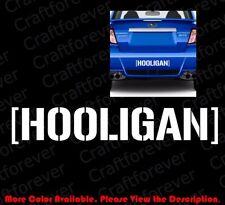 Large Hooligan Banner Vinyl Decal Sticker Mopar Block Drift Mustang Subaru Rc063