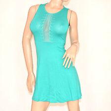 Vestito da sera verde donna mini abito festa elegante strass velato cerimonia 75
