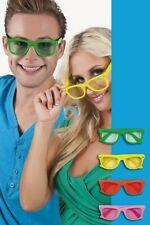 Retro Brille Sonnenbrille 70er 80er 90er Jahre Disco Brillen Schlagerparty NEU