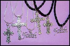 LOVELY CHRISTIAN FAITH NECKLACE * Tibetan Silver * FAST Shipping! #A22