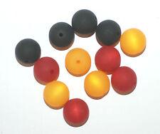 12 pezzi polarisperlen circa Perle Nero Rosso Oro Germania MIX * NUOVO *