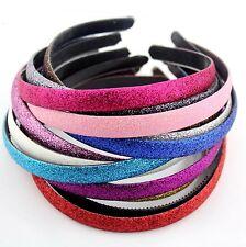 bandeau à cheveux brillant - 15 couleurs au choix - 1.5 cm de largeur