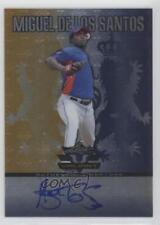 2011 Leaf Valiant Blue #VA-MS3 Miguel De Los Santos Auto Rookie Baseball Card