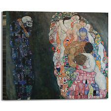 Gustav Klimt vita e morte design quadro stampa tela dipinto telaio arredo casa
