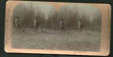1890's Stereo card Keystone Pheasant Hunt dogs guns