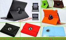 360° Case Tasche Smart Tablet Schutz hülle Flip Etui Cover Apple Folie Sim Nadel