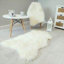 Natur Schaffell Lammfell Läufer Teppich Öko Fell weiß