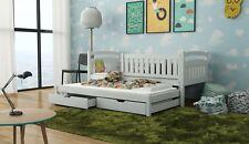 Ausziehbett Kinderbett GALAXY inkl. Matratzen robustes Massivholz Kieferholz