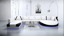 Design Leder Sofa Couch Wohnlandschaft Big XXL Polster Eck Garnitur Neu A1122