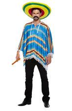 Hombre Poncho Mexicano Adulto Vaquero Bandit Fiesta de Disfraces Hawaiian