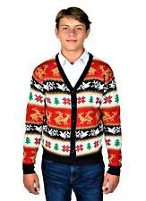 KESIS Rein Deer Ugly Christmas Sweater Cardigan