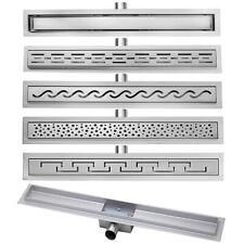 Edelstahl Bodenablauf Duschrinne Ablaufrinne Siphon Dusche 50 - 100 cm 5 Muster