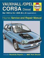 Haynes Owners + Workshop Car Manual Vauxhall Corsa Diesel 93- 00  4087