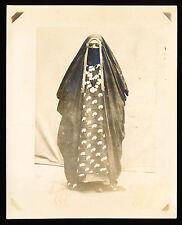 c. 1905 BAGHDAD, MUSLIM WOMAN IN FULL BURKA Vintage Photo