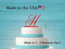 Initial Cake Topper, Wedding Cake, Elegant, Baby Shower, Teen, Birthday, LT1003