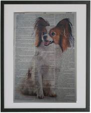 Papillon Dog Print No.113, papillon art, dictionary art, dog lover gifts