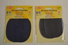 Besatz-Flecken zum Annähen 2 Stück Kunstleder Flicken 11x8,5cm Lederimitat Leder