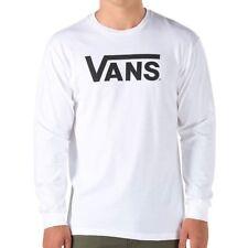 VANS CLASSIC LONG SLEEVE T SHIRT  WHITE BLACK