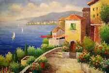 """36x48""""(92x122cm)100%Hand Painted Oil Flat,Mediterranean,Ocean,SeaScape,"""