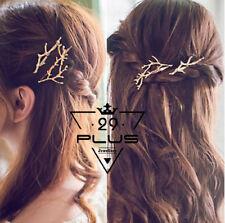 2PCS Women Twig Branch Shape Hair Clip Barrette Hairpins Fashion Hair Accessory