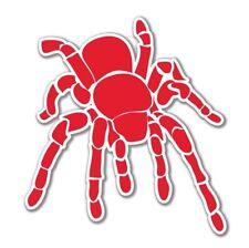 Tarantula Red Vinyl Sticker - SELECT SIZE