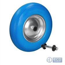 "15"" Wheelbarrow wheels replacement trolley cart wheel blue colour solid 1 2 4x"