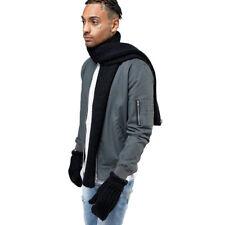 adidas Originals Scarf+Glove Mens Womens Sports Winter Set Scarf Mittens Black