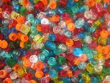 Vrac de 100 pieces LEGO fluo transparentes / city space