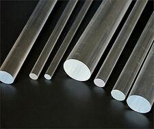 Clear Acrylic Round Rod Perspex Solid Bar Plastic Circular Dowel PMMA